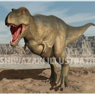走るティラノサウルス