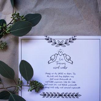 Für die selbstgemachten Hochzeitsillustrationen schreibt mich gerne an <3