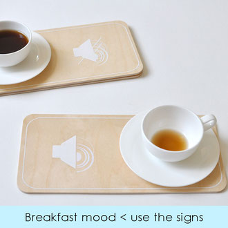 MORNING TRAY - BREAKFAST MOOD < USE THE SIGNS COLLECTION