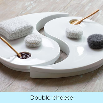 DOUBLE CHEESE PLATTER - LIMOGES PORCELAIN