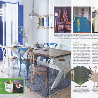 VIE PRATIQUE MAISON - ECO DESIGN INTERVIEW - DINDON MAGNETIK - BEL HERTIAGE DINNERWARE - JUNE 2012