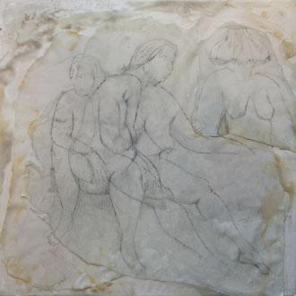 light me up – 2017 – Wachsmalerei und Zeichnungscollage auf Holz – 40 x 40 cm – CHF 1020