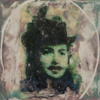 Antoinette de St. Léger – 2017 – Wachsmalerei und Fotocollage auf Holz –15 x 15 cm – CHF 350