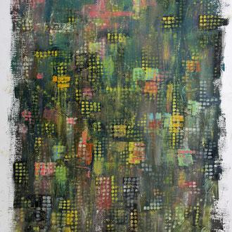 Abenddämmerung in New York – 2014 – Öl auf Papier – 50 x 39 cm – CHF 280