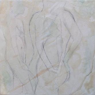 splash – 2017 – Wachsmalerei und Zeichnungscollage auf Holz – 20 x 20 cm – CHF 520
