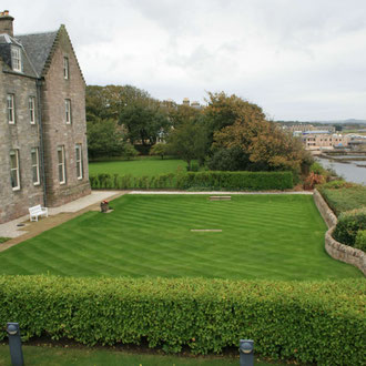Blick von der Dachterrasse des Museum of the University of St. Andrews