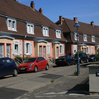 Häuser auf dem Westring im alten Kern der Gartenstadt