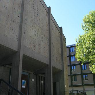 frühere Trinitatiskirche, heute das Eintanzhaus in G4, 4 - Spielplan: www.eintanzhaus.de
