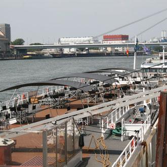 Anlegestele der Kreuzfahrtschiffe am Speicher 7