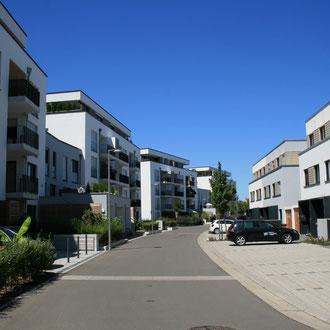 Neubaugebiet an der Rohrhofer Straße in Rheinau-Süd