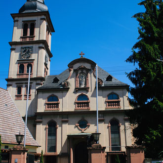 St. Ägidius Kirche in der Seckenheimer Hauptstraße 78
