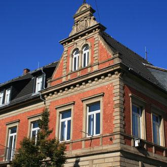 Neckarauer Rathaus und Heimatmuseum in der Rheingoldstraße 14