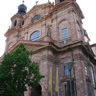 Jesuitenkirche in A4, Außenansicht