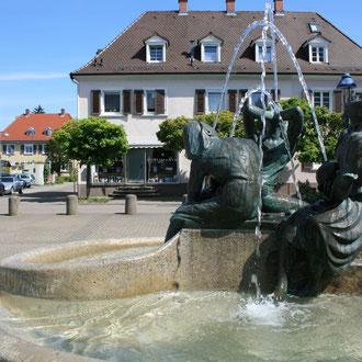Wasserspiel auf dem Freyaplatz