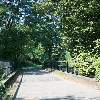 Eine der zahlreichen grünen Adern im Stadtgebiet laden zum Spazieren und Radfahren ein und verbinden viele grüne Lungen der Stadt