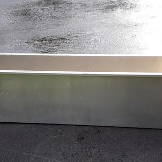 Aluminium Wassertrog 3mm Alublech mit Überlaufrohr