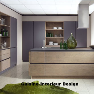 cuisine intérieur design création toulouse moderne cuisine design contemporaine alliant la laque et le bois avec grand casserolier bi matière ilot schroder