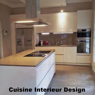 cuisine intérieur design création toulouse moderne cuisine design contemporaine ilot sillestone hotte novy