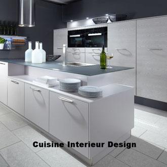 cuisine intérieur design création toulouse moderne cuisine design contemporaine#en#laque#avec#ilot#décalé#mur#technique#schroder