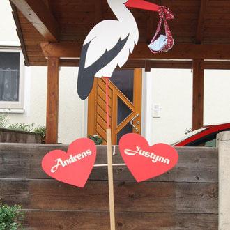 Hochzeit Storch / kreativ-fraesen