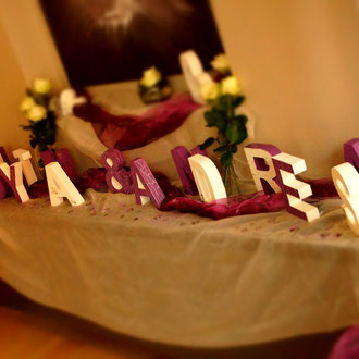 Hochzeit Schriftzug / kreativ-fraesen