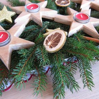 Holz Adventskranz aus Eiche / CNC gefertigt / kreativ-fraesen