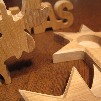 Adventskranz aus Eiche / CNC gefertigt / kreativ-fraesen