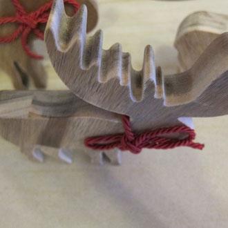 Elche aus Akazie (CNC gefertigt)