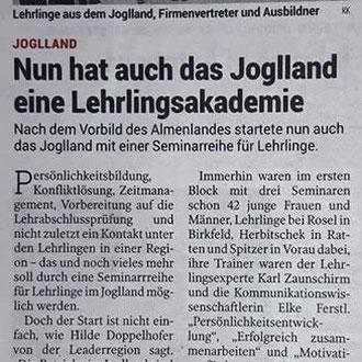 Artikel Kleine Zeitung April 2017