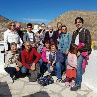 Tous les stagiaires en sortie pour visiter un village typique des îles des Cyclades