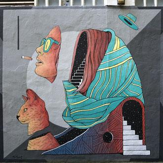 Wall painted in Dabadaba, San Sebastian. 2017.