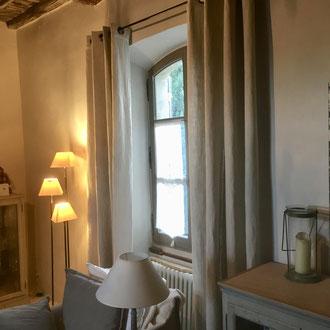 rideaux lin lourd, lin épais naturel