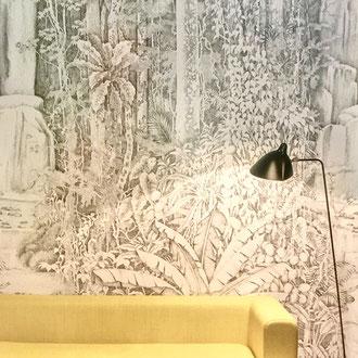 papier peint panoramique dessin