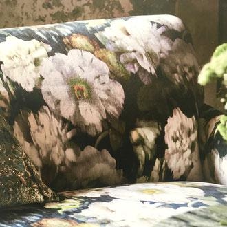 Velours sièges imprimé fleurs très élégant