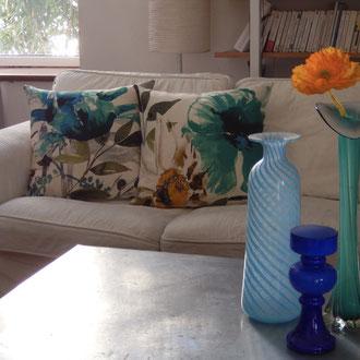 Tissu imprimé fleurs design XXL, lin viscose, produit phare 2016