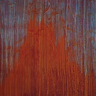 V,   2014, Acryl/HF,  100 x 100 cm | Detail