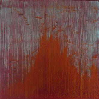 V,   2014, Acryl/HF,  100 x 100 cm