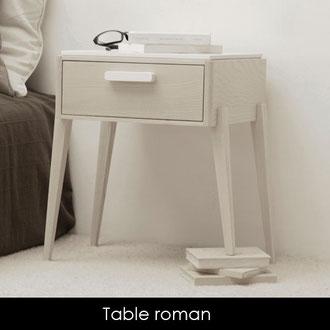 Table roman  < 3 pieds scultpés