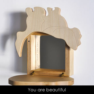 YOU ARE BEAUTIFUL - MIROIR COEUR