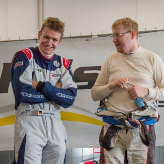Rennfahrer Dennis Bröker mit Chevrolet Cruze Eurocup Champion 2016 Wolfgang Kriegl aus Österreich