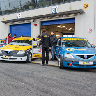 Pfister-Racing Team beim Saisonfinale 2017 ADAC Logan Cup mit 2 Autos am Start