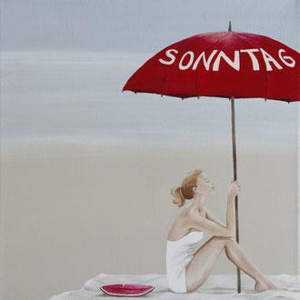 Sea-Serie: Sonntag, 30 x 30 cm