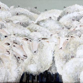 Schafe zählen 1,  30 x 20 cm
