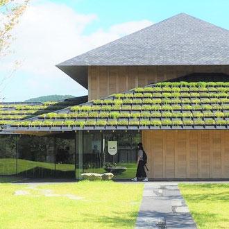 登米市登米町「みやぎの明治村」にある隈研吾設計の「登米懐古館」。