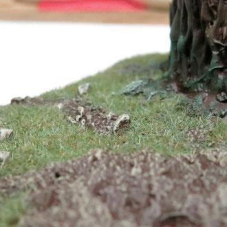 Steinchen in verschiedenen Größen sorgen für interessante Details