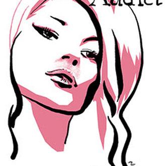 Addict, portret Kate Moss, eigen werk