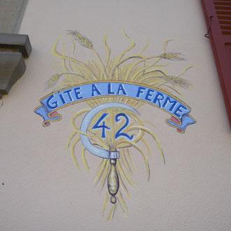 Ornement  pour un numéro de maison à Lupstein-Copyright  Pascale Richert
