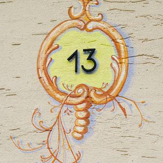 Ornement  pour un numéro de maison à Eckbolsheim - Copyright  Pascale Richert