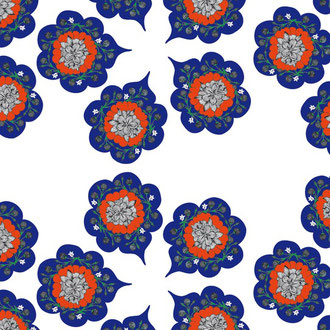 Oriental Pattern / Made with Illustrator
