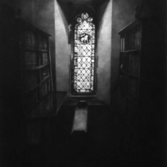 Merton College, Oxford/ 2001/ black color pencil on paper/ 580x380mm